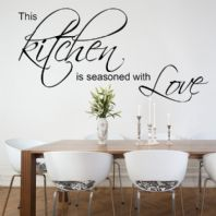 Kitchen Wall Sticker This Kitchen is Seasoned with Love decals